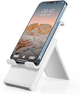 Adjustable Cell Phone Stand,SAIJI Foldable Desktop Phone Holder Cradle Dock for Office,Compatible with Phone 11 Pro xs xr ...