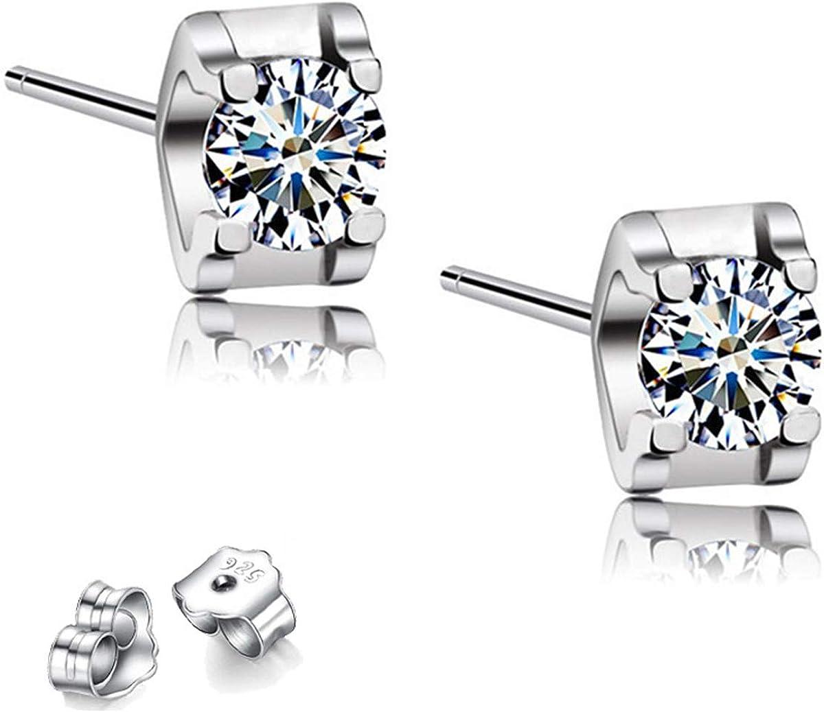 Cubic Zirconia Stud Earrings Max 81% OFF Max 83% OFF For Women Man 925 Sterlin Boy Girls
