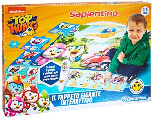 Clementoni- Sapientino Gigante Interaktivo-Top Wings Teppich, Mehrfarbig