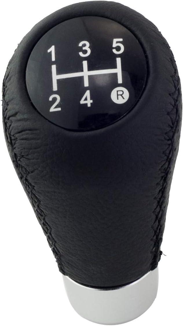 Automotive Knobs Sivcom Black Leather Shift Knob Universal Gear ...
