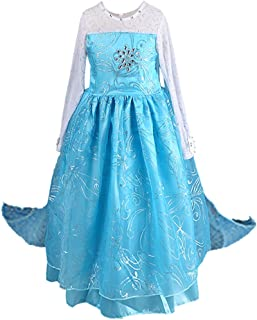 Anbelarui Girls Princess Party Cosplay Costume Long Dress up 3-9 Years
