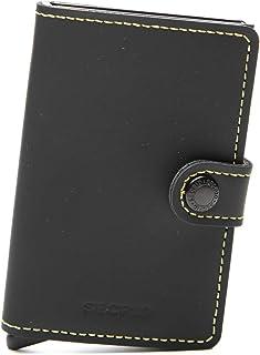 SECRID Mens Mini-wallet Matte Black & Yellow