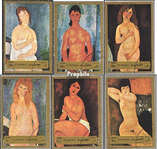 Prophila Collection Fujeira 1222A-1227A (kompl.Ausg.) 1972 Aktgemälde von Modigliani (Briefmarken für Sammler) Malerei