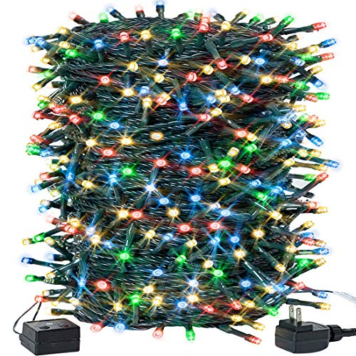 Christmas String Lights Outdoor 105FT 300LED String Lights Waterproof Plug in LED Lights Color Changing for Christmas Tree/ Bedroom/ Party Decoration with 8 Modes Memory Function 100% UL Listed