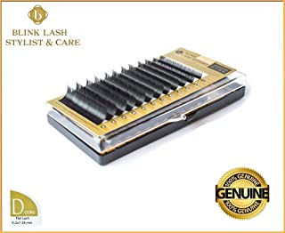 Blink Lash Stylist FLAT MIX eyelashes for eyelash extension D curl- thickness- 0,2 mm , length- 7-14 mm.