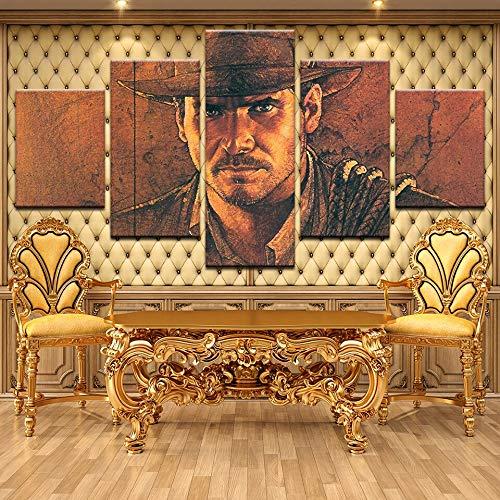 zlhcich Indiana Jones Moderne Plakatkunst Wand Bild Tuch Druck Malerei Raumdekoration Dekoration Drop Transport Rahmenlose 40 * 60 40 * 80 40 * 100