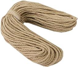 100% Natural Hemp Rope (6mm),50 Meters(164 ft) for Arts Crafts DIY Decoration