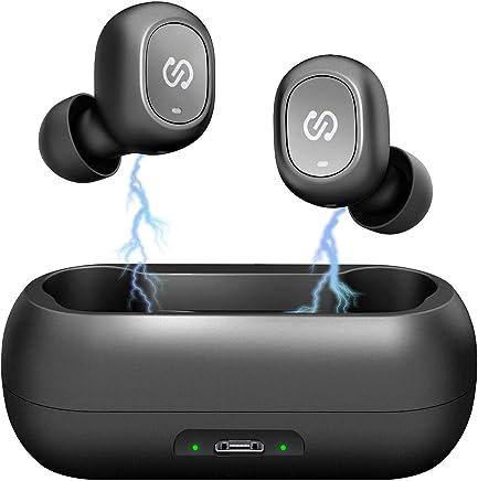 Auriculares Estereo Bluetooth 5.0 SoundPeats de Truefree Auriculares Invisibles con tecnología TWS Invisibles con micrófono Incorporado. Auriculares Gemelos con estación de Carga magnética