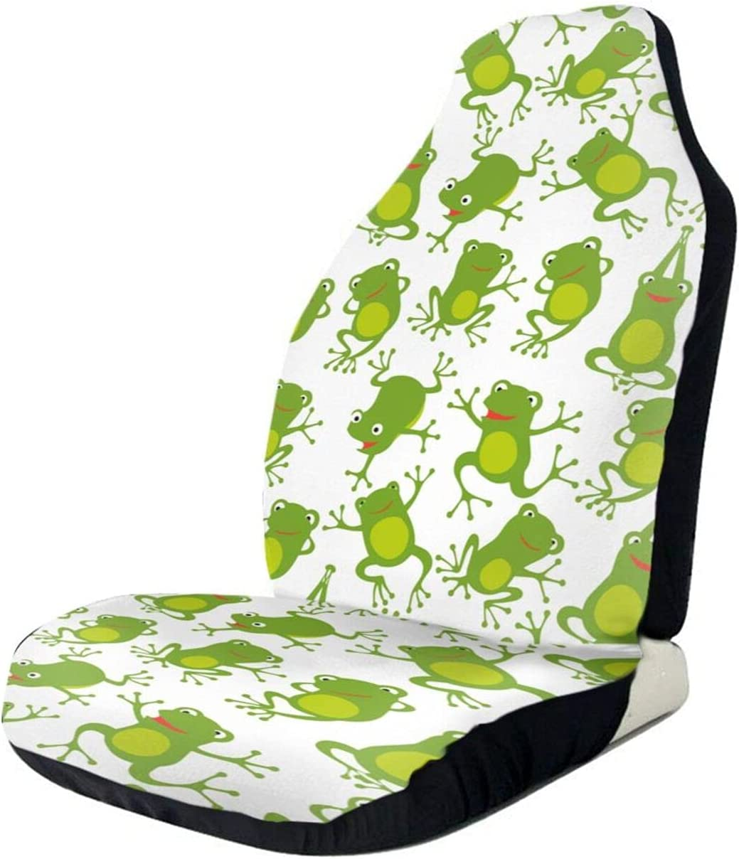 STWINW Car At the price Seat Covers Cute Cushion 3D Protec half Frog Yoga