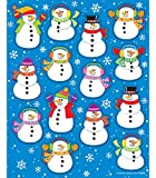 Carson Dellosa Snowman Stickers—6 Sheets of Colorful Winter Stickers for Homework, Tests, Assignments, Winter Stickers for Classroom or Homeschool (84 pc)