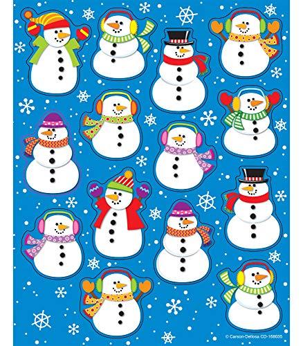 Carson Dellosa Snowman Stickers