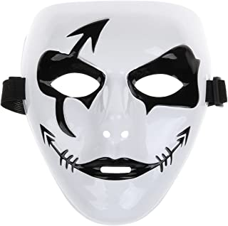 Fashion Hip-hop Style Mask for Halloween Party - Black + White