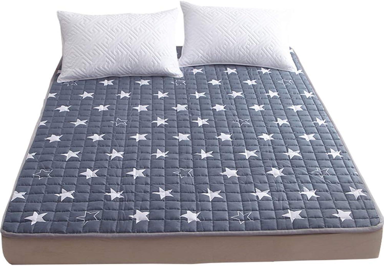 Cotton Mattress, Bed Washable Thin mat Tatami mat Folding 1.2m Foldable Cushion mats Portable Sleeping pad-A 90x200cm(35x79inch)