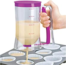 BESTONZON Pancake Batter Dispenser Perfect Baking Tool for Cupcakes Waffles Muffin Mix Crepes Cake or Any Baked Goods Bakeware Maker with Measuring Label