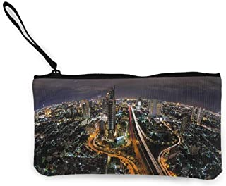 Coin pouch Urban,Bangkok City South East Asia,Wallet Coin Purses Clutch