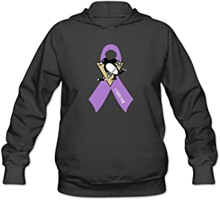 Women's Hockey Fights Cancer Pittsburgh Penguins Hoodie Black