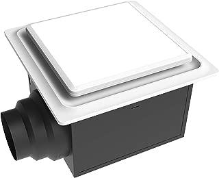 Aero Pure ABF80 L5 W ABF80L5 Ceiling Mount 80 CFM w/LED Light/Nightlight, Energy Star Certified, White Quiet Bathroom Ventilation Fan,