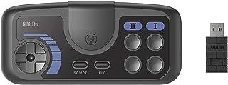 Flytise Gamepad inalámbrico de 8 bits compatible con PC Engine mini CoreGrafx mini TubroGrafx-16 mini Switch (gris oscuro,...