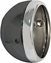 Emgo 5 3/4in. Lucas Style Side Mount Headlight Shell - Black 6665074