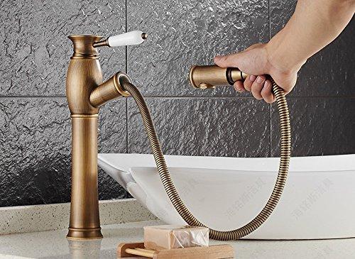 Hot sale antieke watermixer met eenhendelbediening badkamer wastafel armatuur van warm koud bad wateraansluiting tippen, EEN