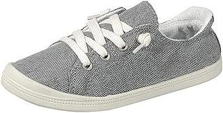 Forever Link Women's Classic Slip-On Comfort Fashion Sneaker, Grey, 8.5