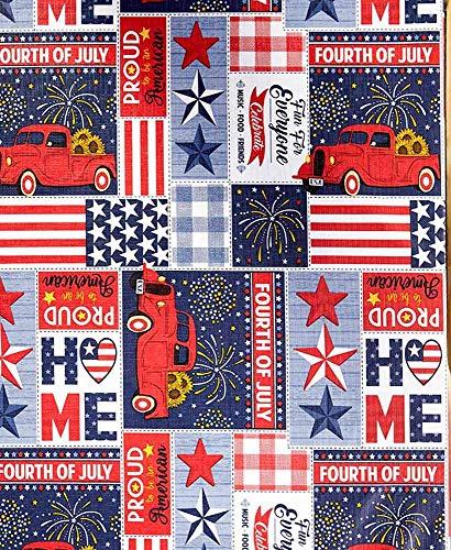 Ojis Ecart 3-PC.Americana Design Picnic Table Covers