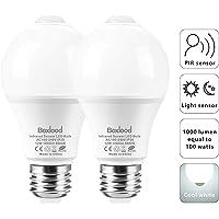 2-Pack Boxlood 12W Motion Sensor Daylight LED Light Bulbs