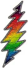 Grateful Dead Rainbow Lightening Bolt - Window Sticker / Decal (9