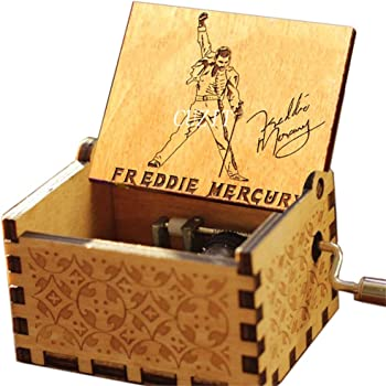Cuzit Greatest Hits Queen Freddie Mercury Caja de música Antigua Tallada a Mano de Madera Caja Musical Juguete: Amazon.es: Hogar