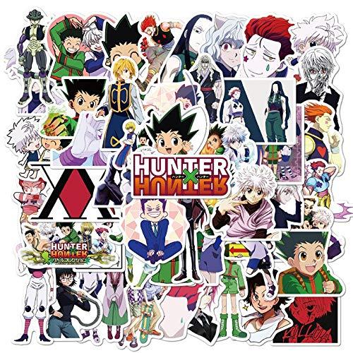 SHUYI Cazador de Tiempo Completo Anime Graffiti Pegatinas Equipaje portátil Gafas Casco Pegatinas Impermeables 50 Hojas