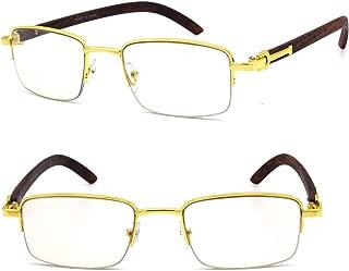 gold and wood eyewear