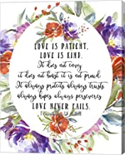 1 Corinthians 13 4, 7-8 by Tara Moss Canvas Art Wall Picture, Gallery Wrap, 25 x 32 inches
