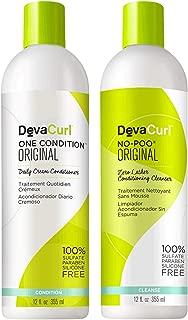 DevaCurl No-Poo 12oz + One Condition 12oz (Original)