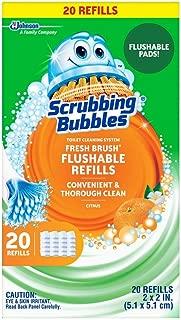 Scrubbing Bubbles Fresh Brush Flushable Refills, Citrus 20 CT