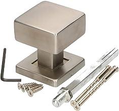 KOTARBAU deurknop roestvrij staal vast deurbeslag kogelknop vierkant huisdeur deur deurknop bouwbeslag deurgreep montage-e...