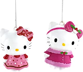 Hello Kitty Kurt Adler Ornament Set of 2