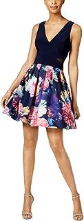 Xscape Womens Petites Party Floral-Print Mini Dress