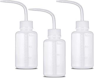 Lurrose 4 St/ück Sicherheitswaschflasche Quetschflasche Labore Waschflasche Spritzflasche mit Schmalem Mund f/ür Handreinigten Garten