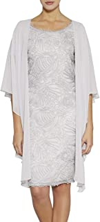 Women's Asymmetrical Hem Soft Sheer Chiffon Wraps for Evening Party Open Front Wedding Capes