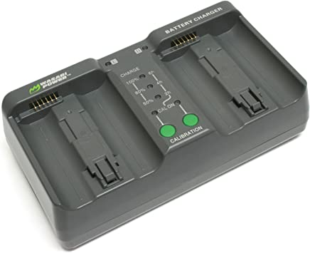 Wasabi Power Dual Battery Charger for Nikon MH-26, MH-26aAK, EN-EL18, EN-EL18a, EN-EL18b (with Adapter for Canon LP-E4, LP-E4N)