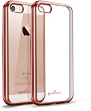 iPhone SE Case,Hallsen [Electroplating TPU] Ultra Slim Anti-Scratch Premium TPU Clear Crystal Back Cover Soft Flexible TPU Case Cover for iPhone SE/5/5s