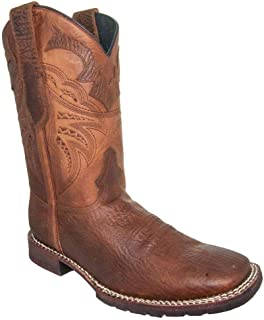 Soto Boots Men's Rebel Rugged Square Toe Cowboy Boot H4010