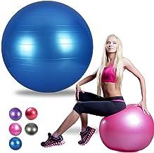 Gymforward 30inch Yoga Ball High Strength Anti Burst Exercise Ball Pilates Training Balance Ball