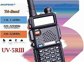 BFTECH UV-5R III Tri-Band 5W VHF,1.25M,UHF 136-174/220-260/400-520Mhz Extra 220 Antenna Portable Amateur Ham Two Way Radio