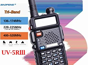 BFTECH UV-5R III Tri-Band 5W VHF,1.25M,UHF 136-174/220-225/400-520Mhz Extra 220 Antenna Portable Amateur Ham Two Way Radio