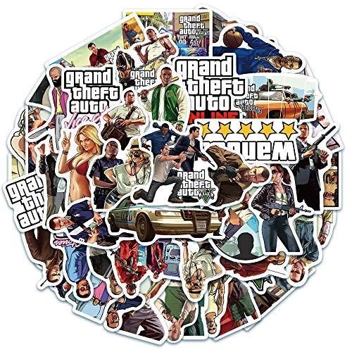 BLOUR 10/30/50/100 Uds GTA Juego Grand Theft Autos Pegatina para Equipaje portátil Tableta teléfono decoración Pegatina niños Juguete Regalo