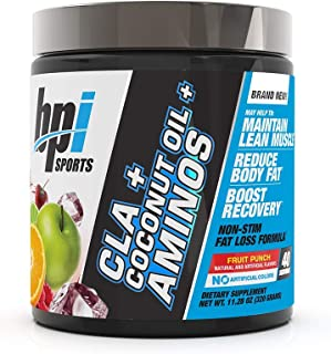 BPI Sports Health CLA + Coconut Oil + Aminos, Non Stimulant Fat Loss Supplement Powder, Boost Weight Loss, Maintain Lean M...