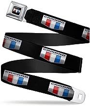 Buckle-Down Seatbelt Belt - CAMARO Six Badge Black/Silver/Red/White/Blue - 1.5