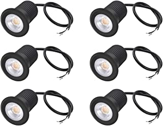 RNEHON 5W LED Inground Light Landscape Lighting, LED Outdoor Well Light, UL Listed Linkable Pathway Lights, IP67 Waterproof Deck Light, 3000K Outdoor Lighting for Yard,Lawn,Garden,Patio,Pack of 6