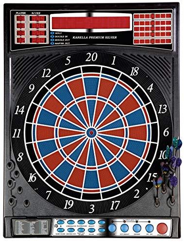 elektronische Dartscheibe Dartboard Premium Silver inkl. 12 Roleo Dartpfeile